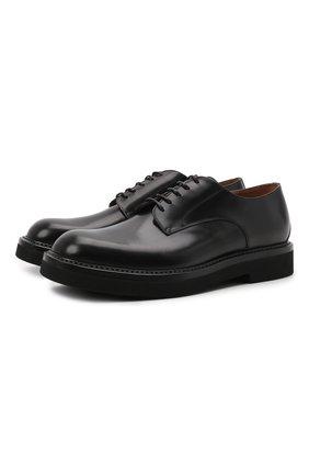 Мужские кожаные дерби W.GIBBS черного цвета, арт. 0537006/2535 | Фото 1