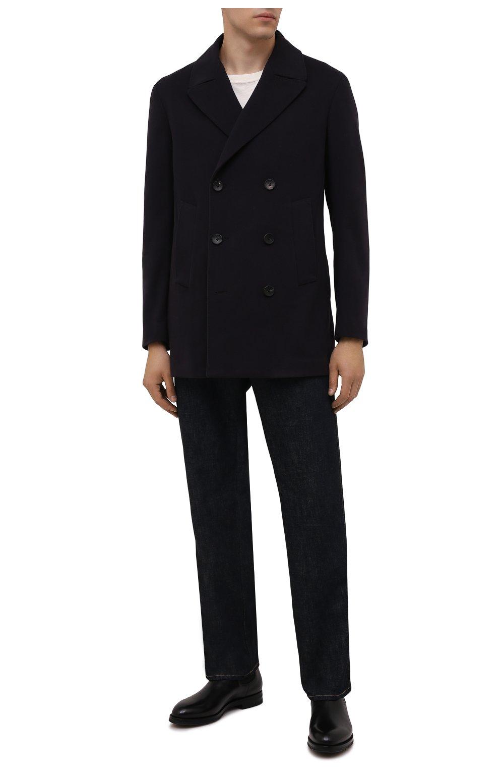 Мужские кожаные челси W.GIBBS черного цвета, арт. 0639028/2578 | Фото 2 (Материал внутренний: Натуральная кожа; Подошва: Плоская; Мужское Кросс-КТ: Сапоги-обувь, Челси-обувь)
