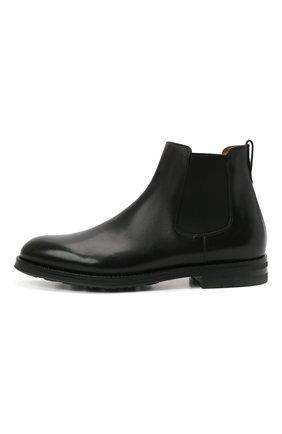 Мужские кожаные челси W.GIBBS черного цвета, арт. 0639028/2578 | Фото 3 (Материал внутренний: Натуральная кожа; Подошва: Плоская; Мужское Кросс-КТ: Сапоги-обувь, Челси-обувь)