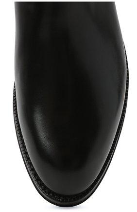Мужские кожаные челси W.GIBBS черного цвета, арт. 0639028/2578 | Фото 5 (Материал внутренний: Натуральная кожа; Подошва: Плоская; Мужское Кросс-КТ: Сапоги-обувь, Челси-обувь)