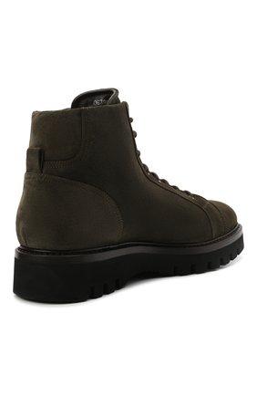 Мужские замшевые ботинки W.GIBBS хаки цвета, арт. 0672001/2576 | Фото 4 (Материал утеплителя: Натуральный мех; Мужское Кросс-КТ: Ботинки-обувь, зимние ботинки; Подошва: Массивная; Материал внешний: Замша)