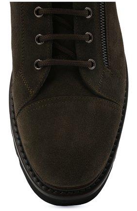 Мужские замшевые ботинки W.GIBBS хаки цвета, арт. 0672001/2576 | Фото 5 (Материал утеплителя: Натуральный мех; Мужское Кросс-КТ: Ботинки-обувь, зимние ботинки; Подошва: Массивная; Материал внешний: Замша)