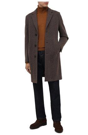 Мужские замшевые ботинки W.GIBBS коричневого цвета, арт. 3169005/2572 | Фото 2 (Материал утеплителя: Натуральный мех; Подошва: Плоская; Мужское Кросс-КТ: Ботинки-обувь, зимние ботинки, Дезерты-обувь; Материал внешний: Замша)