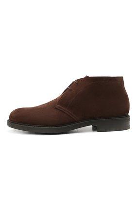Мужские замшевые ботинки W.GIBBS коричневого цвета, арт. 3169005/2572 | Фото 3 (Материал утеплителя: Натуральный мех; Мужское Кросс-КТ: Ботинки-обувь, Дезерты-обувь, зимние ботинки; Подошва: Плоская; Материал внешний: Замша)