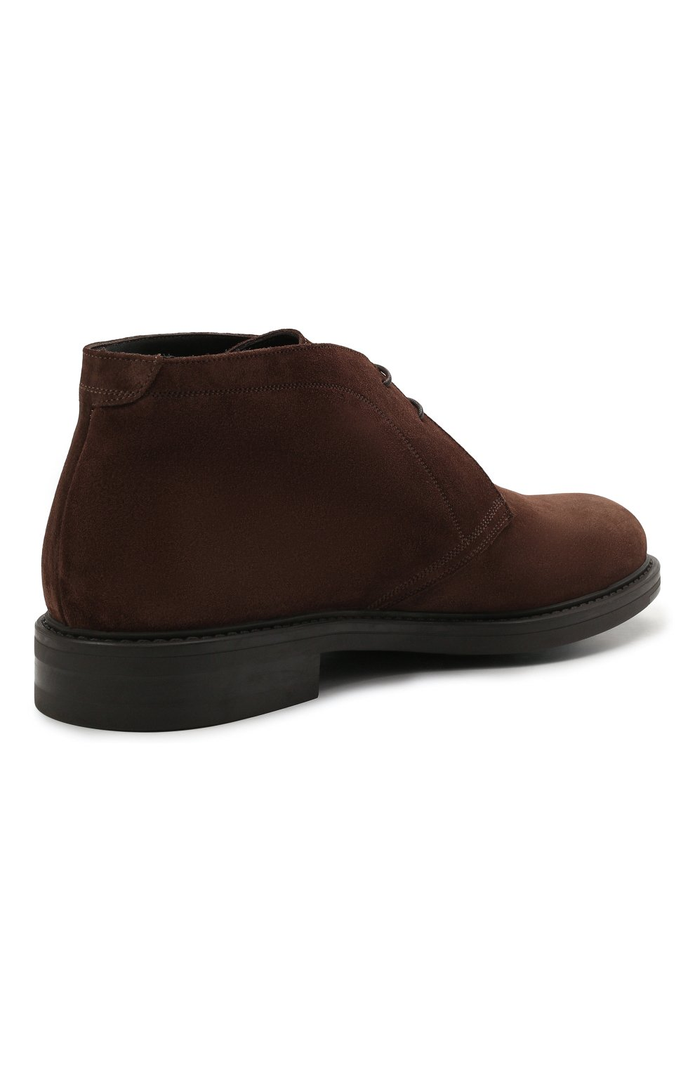 Мужские замшевые ботинки W.GIBBS коричневого цвета, арт. 3169005/2572 | Фото 4 (Материал утеплителя: Натуральный мех; Мужское Кросс-КТ: Ботинки-обувь, Дезерты-обувь, зимние ботинки; Подошва: Плоская; Материал внешний: Замша)