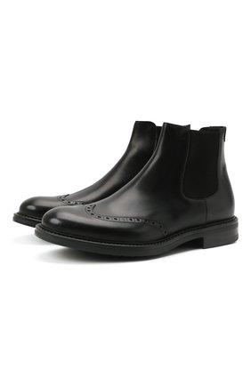 Мужские кожаные челси W.GIBBS черного цвета, арт. 3169016/0214 | Фото 1