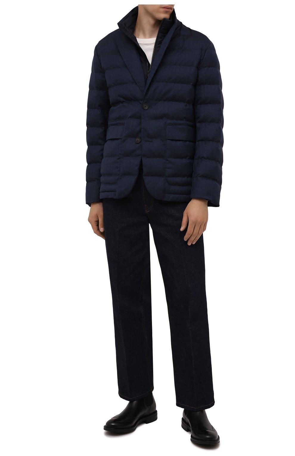 Мужские кожаные челси W.GIBBS черного цвета, арт. 3169016/0214 | Фото 2 (Материал внутренний: Натуральная кожа; Подошва: Плоская; Мужское Кросс-КТ: Сапоги-обувь, Челси-обувь)