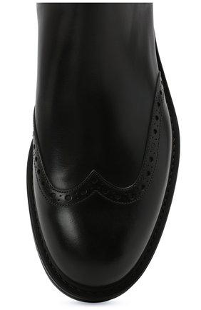 Мужские кожаные челси W.GIBBS черного цвета, арт. 3169016/0214 | Фото 5 (Материал внутренний: Натуральная кожа; Подошва: Плоская; Мужское Кросс-КТ: Сапоги-обувь, Челси-обувь)