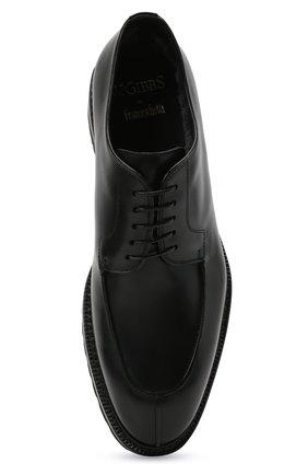 Мужские кожаные дерби W.GIBBS черного цвета, арт. 7260009/2573   Фото 5 (Материал утеплителя: Натуральный мех; Стили: Классический)