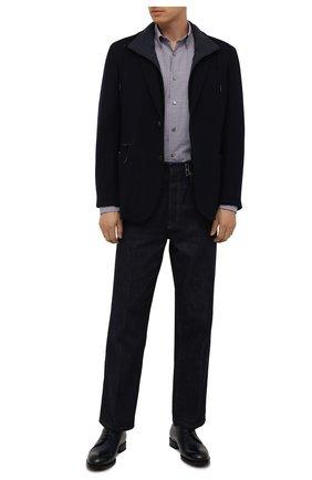Мужские кожаные дерби firenze ZEGNA COUTURE темно-синего цвета, арт. A4418X-LHBEP | Фото 2