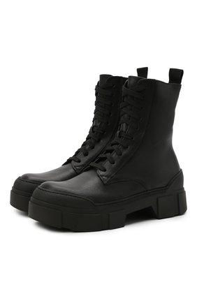 Женские кожаные ботинки VIC MATIE черного цвета, арт. 1W3150D.V14W890101   Фото 1