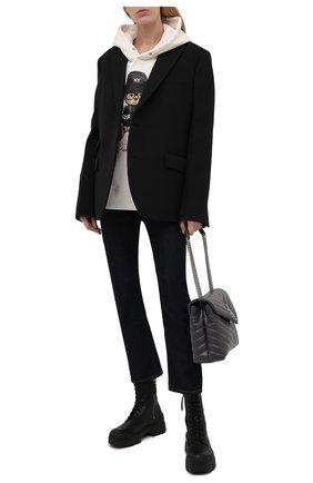 Женские кожаные ботинки VIC MATIE черного цвета, арт. 1W3150D.V14W890101   Фото 2