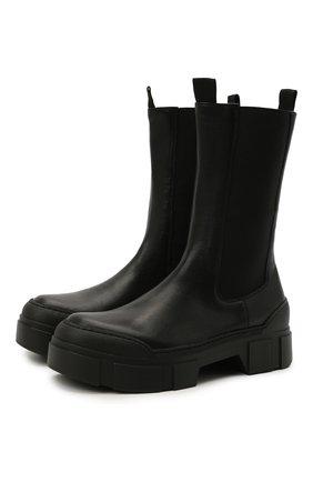 Женские кожаные челси VIC MATIE черного цвета, арт. 1W3152D.V14W890101   Фото 1