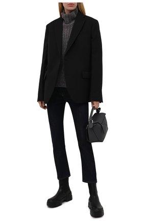 Женские кожаные челси VIC MATIE черного цвета, арт. 1W3152D.V14W890101   Фото 2