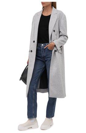 Женские кожаные челси VIC MATIE кремвого цвета, арт. 1W3152D.V14W890110   Фото 2