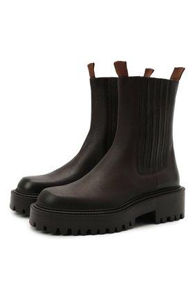 Женские кожаные челси VIC MATIE темно-коричневого цвета, арт. 1W3358D.W60W890350   Фото 1