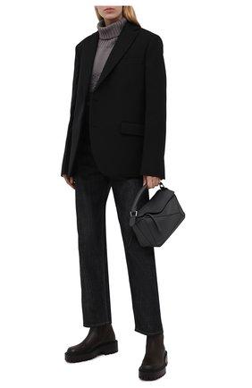 Женские кожаные челси VIC MATIE темно-коричневого цвета, арт. 1W3358D.W60W890350   Фото 2