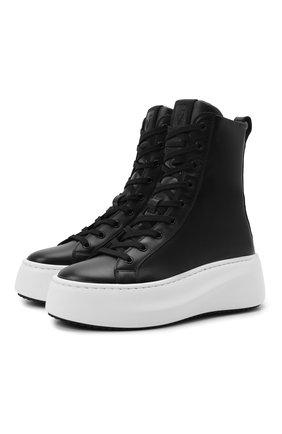 Женские кожаные ботинки VIC MATIE черного цвета, арт. 1W3404D.W62S040101   Фото 1