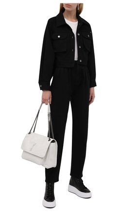 Женские кожаные ботинки VIC MATIE черного цвета, арт. 1W3404D.W62S040101   Фото 2