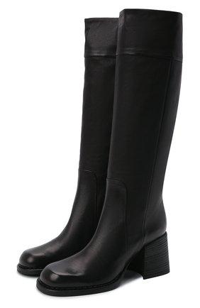 Женские кожаные сапоги VIC MATIE черного цвета, арт. 1W3458D.W64Y190101   Фото 1