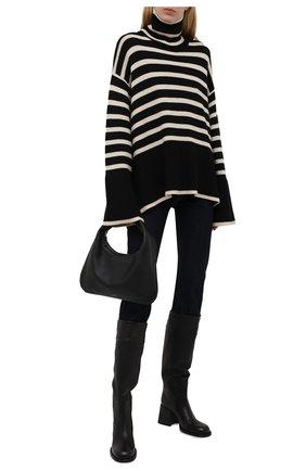 Женские кожаные сапоги VIC MATIE черного цвета, арт. 1W3458D.W64Y190101   Фото 2