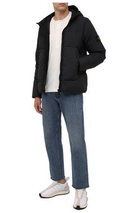 Мужская пуховая куртка STONE ISLAND черного цвета, арт. 751540123 | Фото 2