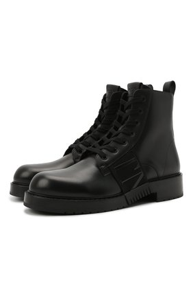 Мужские кожаные ботинки vl7n city VALENTINO черного цвета, арт. WY2S0E55/PPW | Фото 1