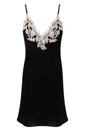 Женская шелковая сорочка LA PERLA черно-белого цвета, арт. 0019227 | Фото 1