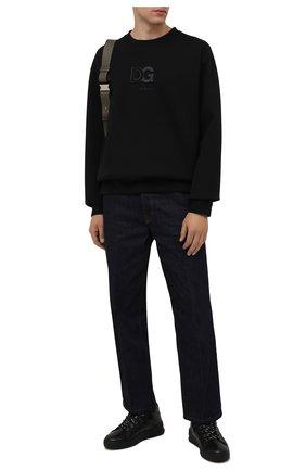 Мужские кожаные кеды BOGNER черного цвета, арт. 12140273/C0L0GNE 9 | Фото 2 (Материал утеплителя: Натуральный мех; Подошва: Массивная)