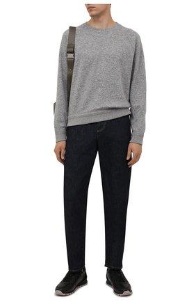 Мужские кожаные кроссовки BOGNER черного цвета, арт. 12140301/P0RT0 10 A | Фото 2 (Подошва: Массивная; Материал внутренний: Натуральная кожа; Стили: Классический)