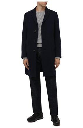 Мужские кожаные кроссовки BOGNER черного цвета, арт. 12140353/SEATTLE M 6 A | Фото 2 (Подошва: Массивная; Материал утеплителя: Натуральный мех; Стили: Классический)