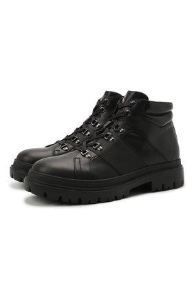Мужские кожаные ботинки BOGNER черного цвета, арт. 12141611/CHESA ALPINA M 1 | Фото 1 (Подошва: Плоская; Материал внутренний: Натуральная кожа; Мужское Кросс-КТ: Ботинки-обувь, Хайкеры-обувь)