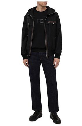 Мужские кожаные ботинки BOGNER черного цвета, арт. 12142273/ANCH0RAGE M 8 A | Фото 2 (Материал утеплителя: Натуральный мех; Подошва: Массивная; Мужское Кросс-КТ: Ботинки-обувь, зимние ботинки)
