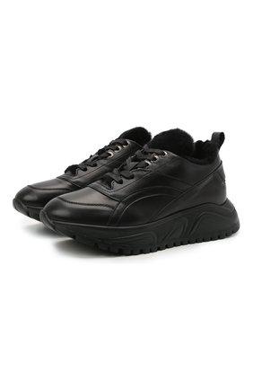 Женские кожаные кроссовки new malaga 6 BOGNER черного цвета, арт. 22140313/NEW MALAGA 6 C   Фото 1