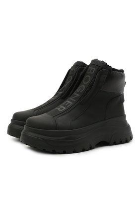 Женские кожаные ботинки BOGNER черного цвета, арт. 22141843/BANFF 5 A   Фото 1