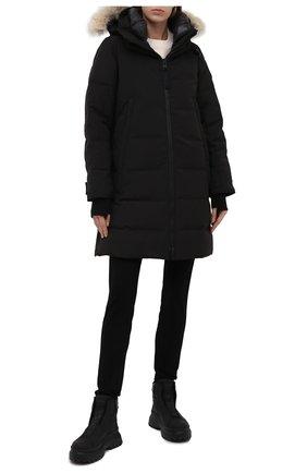 Женские кожаные ботинки BOGNER черного цвета, арт. 22141843/BANFF 5 A   Фото 2
