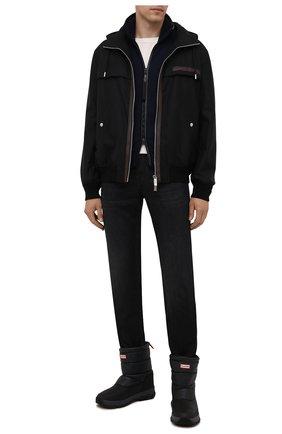 Мужские текстильные сапоги HUNTER черного цвета, арт. MFS9134WWU | Фото 2