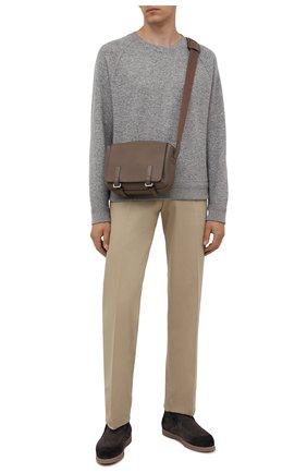 Мужские замшевые ботинки DOUCAL'S серого цвета, арт. DU2654ED0-UM024MN03 | Фото 2 (Материал утеплителя: Натуральный мех; Подошва: Плоская; Мужское Кросс-КТ: Ботинки-обувь, зимние ботинки; Материал внешний: Замша)