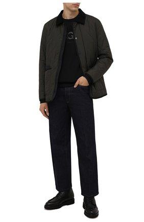Мужские кожаные ботинки DOUCAL'S черного цвета, арт. DU2711PHILUM019NN00 | Фото 2 (Материал утеплителя: Натуральный мех; Подошва: Плоская; Мужское Кросс-КТ: Ботинки-обувь, зимние ботинки)