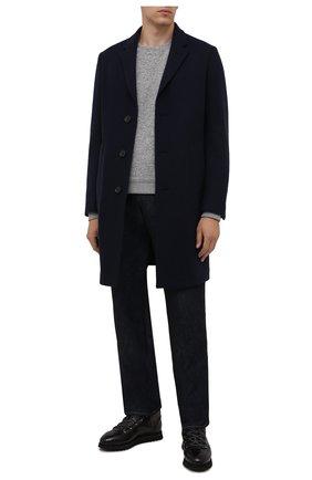 Мужские кожаные ботинки DOUCAL'S темно-серого цвета, арт. DU2881WINNUM0232N05 | Фото 2 (Подошва: Массивная; Материал утеплителя: Натуральный мех; Мужское Кросс-КТ: Ботинки-обувь, Хайкеры-обувь, зимние ботинки)