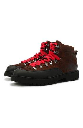 Мужские замшевые ботинки DOUCAL'S коричневого цвета, арт. DU2912CENTPF556NM01 | Фото 1 (Материал внутренний: Натуральная кожа; Подошва: Плоская; Мужское Кросс-КТ: Ботинки-обувь, Хайкеры-обувь; Материал внешний: Замша)