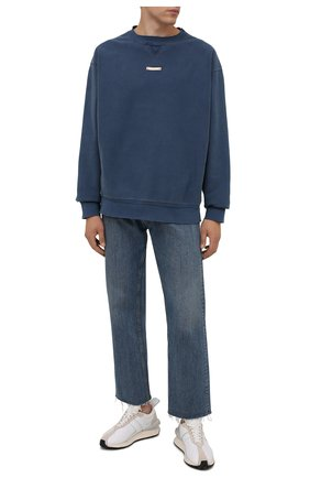 Мужской хлопковый свитшот MAISON MARGIELA синего цвета, арт. S50GU0178/S25520 | Фото 2