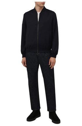Мужские замшевые кеды SANTONI черного цвета, арт. MBGT21557NE0PRAUN01 | Фото 2