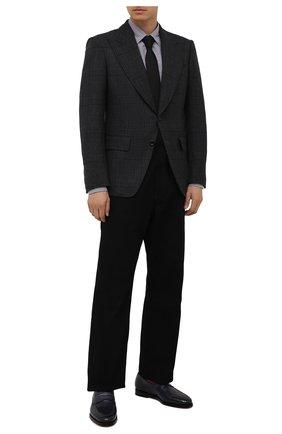 Мужские кожаные пенни-лоферы SANTONI темно-синего цвета, арт. MCCG15609SB3EVRTU59 | Фото 2