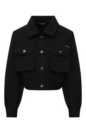 Женская джинсовая куртка DOLCE & GABBANA черного цвета, арт. F9J02D/G902A   Фото 1