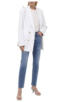 Женские джинсы DOLCE & GABBANA синего цвета, арт. FTCAKD/G902R | Фото 2 (Материал внешний: Хлопок; Длина (брюки, джинсы): Стандартные; Стили: Кэжуэл; Кросс-КТ: Деним; Силуэт Ж (брюки и джинсы): Слим)