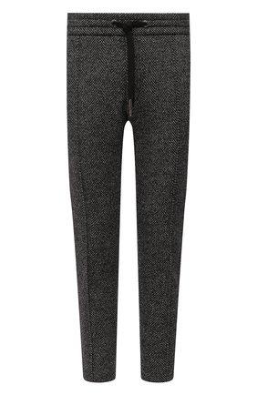 Мужские брюки из шерсти и хлопка DOLCE & GABBANA серого цвета, арт. GYACET/GEV53 | Фото 1
