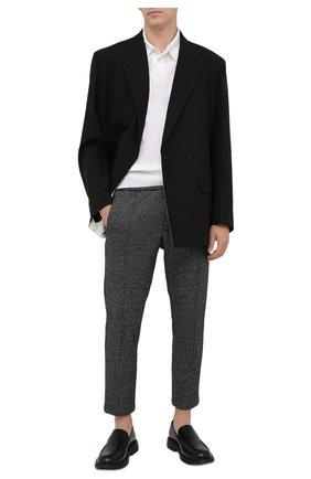 Мужские брюки из шерсти и хлопка DOLCE & GABBANA серого цвета, арт. GYACET/GEV53 | Фото 2