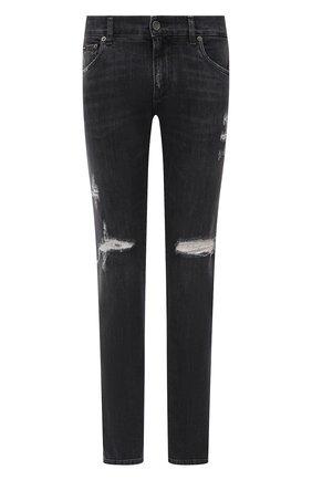 Мужские джинсы DOLCE & GABBANA темно-серого цвета, арт. GY07LD/G8EG4 | Фото 1