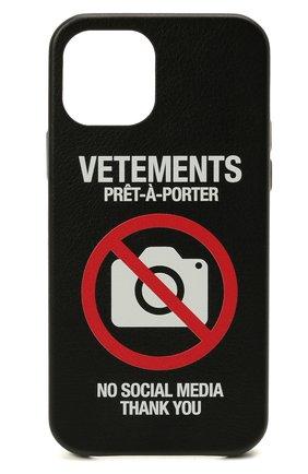 Чехол для iphone 12 pro VETEMENTS черного цвета, арт. UA52SA420B 2410/M/BLACK 12 PR0   Фото 1